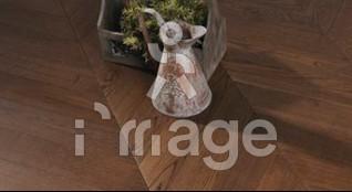 Паркетна дошка Serifoglu (0625744) Ялинка 45 Американський горіх Люкс Туреччина