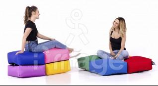 "Poparada Крісло-мішок (0625954) ""Rainbow"" (200*100*20) Україна"